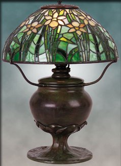 Tiffany Daffodil Shaded Table Lamp - Example