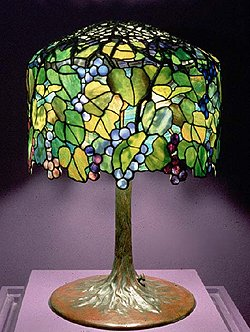 Tiffany Grape Design Table Lamp Example