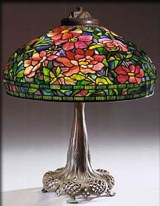 Tiffany Peony Shade Table Lamp