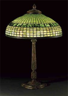 Tiffany Turtleback Tile Geometric Table Lamp