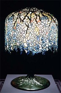 Tiffany Large Blue Wisteria Table Lamp