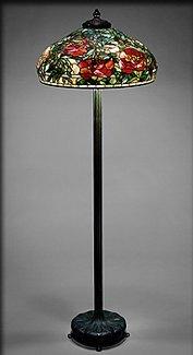 Marvelous Tiffany Grand Peony Shade Floor Lamp