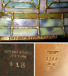 Genuine Tiffany Lamps Authentic Amp Genuine Tiffany Lamp Marks
