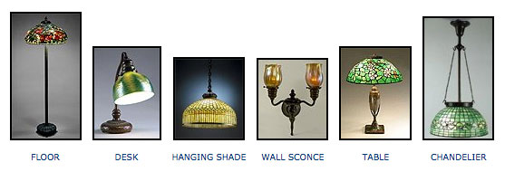 types of Tiffany lamps
